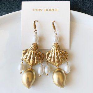 Tory Burch shell statement earrings